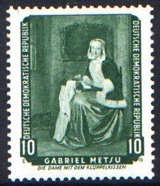10 Pf Briefmarke: Gemälde, Dresdner Gemäldegalerie