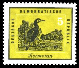 5 Pf Briefmarke: Heimische Vögel, Kormoran