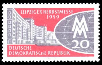 20 Pf Briefmarke: Leipziger Herbstmesse 1959
