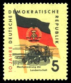 5 Pf Briefmarke: 10 Jahre DDR