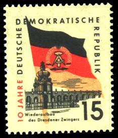 15 Pf Briefmarke: 10 Jahre DDR