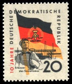 20 Pf Briefmarke: 10 Jahre DDR