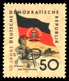 50 Pf Briefmarke: 10 Jahre DDR