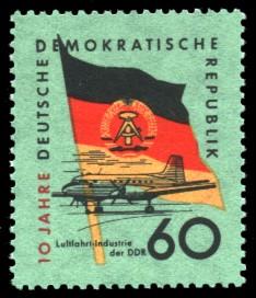 60 Pf Briefmarke: 10 Jahre DDR