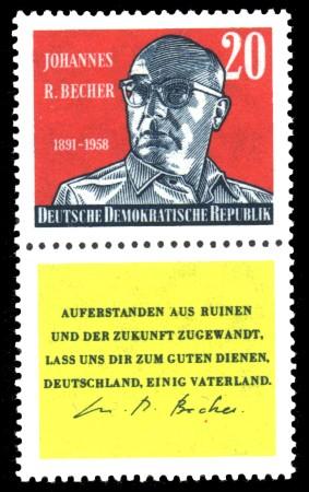 20 Pf Briefmarke: 1. Todestag Johannes Robert Becher