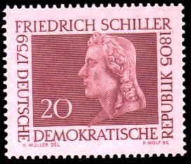 20 Pf Briefmarke: 200. Geburtstag Friedrich Schiller