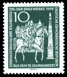 10 Pf Briefmarke: Tag der Briefmarke 1959