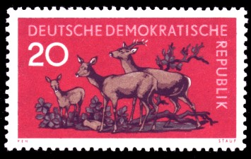 20 Pf Briefmarke: Waldtiere, Reh