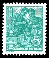 10 Pf Briefmarke: Freimarke Fünfjahresplan