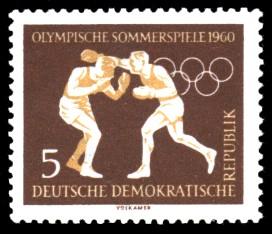 5 Pf Briefmarke: Olympische Sommerspiele 1960, Boxen