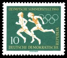 10 Pf Briefmarke: Olympische Sommerspiele 1960, Lauf