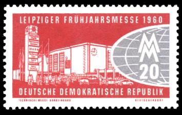 20 Pf Briefmarke: Leipziger Frühjahrsmesse 1960