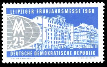 25 Pf Briefmarke: Leipziger Frühjahrsmesse 1960