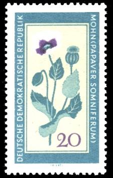 20 Pf Briefmarke: Therapeutische Arzneipflanzen, Mohn