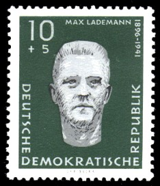10 + 5 Pf Briefmarke: Antifaschisten, Max Lademann