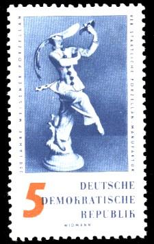 5 Pf Briefmarke: 250 Jahre Meissner Porzellan