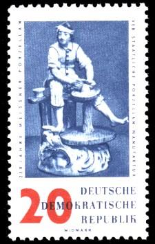 20 Pf Briefmarke: 250 Jahre Meissner Porzellan