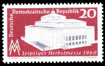20 Pf Briefmarke: Leipziger Herbstmesse 1960