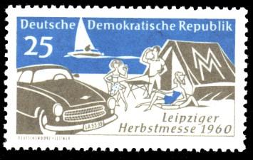 25 Pf Briefmarke: Leipziger Herbstmesse 1960