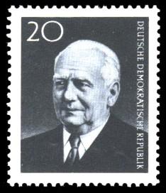 20 Pf Briefmarke: Tod des DDR Präsidenten Wilhelm Pieck