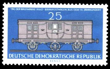 25 Pf Briefmarke: Tag der Briefmarke 1960