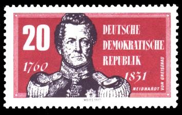 20 Pf Briefmarke: 200. Geburtstag Neidhardt von Gneisenau