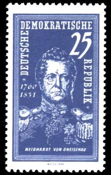 25 Pf Briefmarke: 200. Geburtstag Neidhardt von Gneisenau