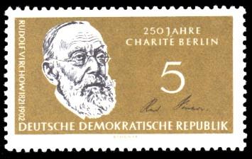 5 Pf Briefmarke: 150 Jahre Humboldt-Universität zu Berlin / 250 Jahre Charité Berlin