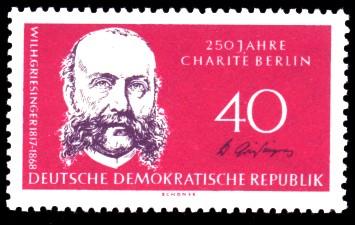 40 Pf Briefmarke: 150 Jahre Humboldt-Universität zu Berlin / 250 Jahre Charité Berlin