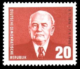20 Pf Briefmarke: 85. Geburtstag Wilhelm Pieck