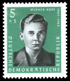 5 + 5 Pf Briefmarke: Antifaschisten, Werner Kube