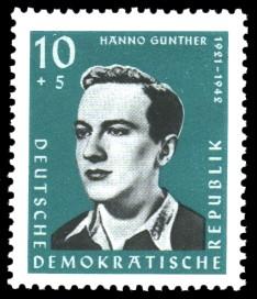 10 + 5 Pf Briefmarke: Antifaschisten, Hanno Günther