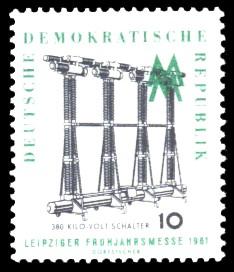 10 Pf Briefmarke: Leipziger Frühjahrsmesse 1961