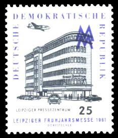 25 Pf Briefmarke: Leipziger Frühjahrsmesse 1961