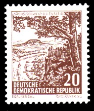 20 Pf Briefmarke: Landschaften und historische Bauten
