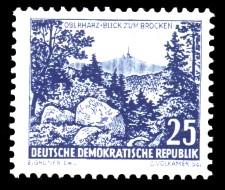 25 Pf Briefmarke: Landschaften und historische Bauten