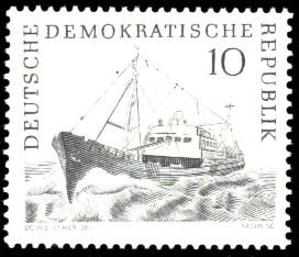 10 Pf Briefmarke: Hochseefischerei der DDR