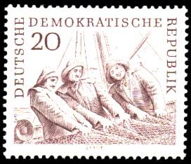 20 Pf Briefmarke: Hochseefischerei der DDR