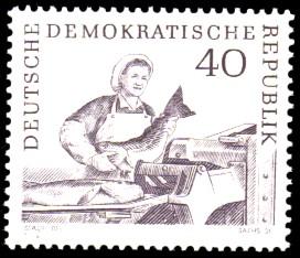 40 Pf Briefmarke: Hochseefischerei der DDR