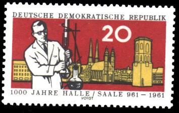20 Pf Briefmarke: 1000 Jahre Halle/Saale