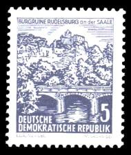 5 Pf Briefmarke: Landschaften und historische Bauten