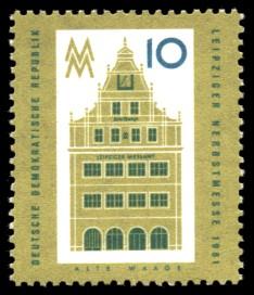 10 Pf Briefmarke: Leipziger Herbstmesse 1961