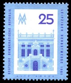 25 Pf Briefmarke: Leipziger Herbstmesse 1961