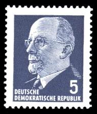 5 Pf Briefmarke: Walter Ulbricht