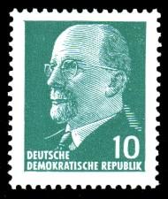 10 Pf Briefmarke: Walter Ulbricht