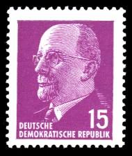 15 Pf Briefmarke: Walter Ulbricht