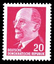 20 Pf Briefmarke: Walter Ulbricht