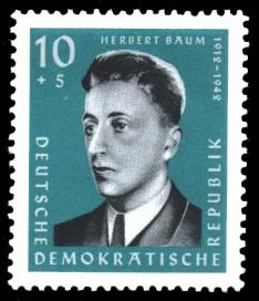 10 + 5 Pf Briefmarke: Antifaschisten, Herbert Baum