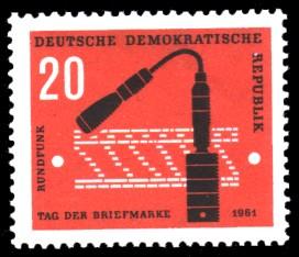 20 Pf Briefmarke: Tag der Briefmarke 1961