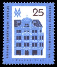 25 Pf Briefmarke: Leipziger Frühjahrsmesse 1962